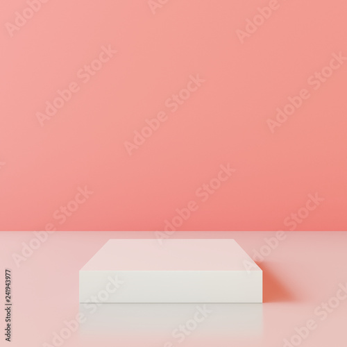 Blank product stand with wall color of the year 2019. 3d rendering © aanbetta