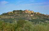 View of Montepulciano town in Italy