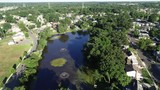 Aerial View of Delaware Riverfront Port City Gloucester New Jersey - 241945501