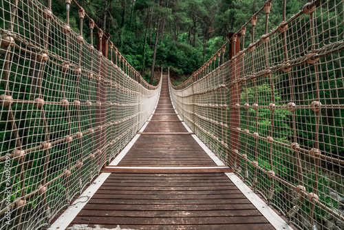 Foto Murales Landscape view of Suspension bridge in Turkey.