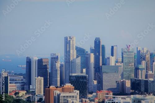 Singapore's Skyline on a Sunny Day