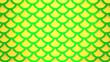 Leinwandbild Motiv Yellow green fish scales bright cells pattern marine background 3D illustration