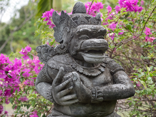 Hindu temple with statues of the gods on Bali island, Indonesia. Balinese Hindu Temple, old hindu architecture, Bali Architecture, Ancient design