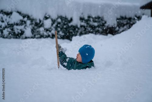 canvas print picture Neuschnee in den Alpen