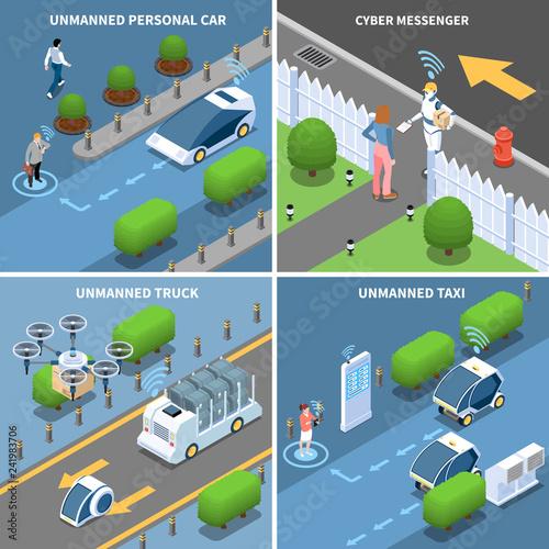 Fridge magnet Autonomous Cars Design Concept