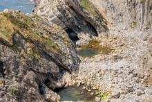 """Постер, картина, фотообои """"Cliff landscape of lulworth cove, uk."""""""
