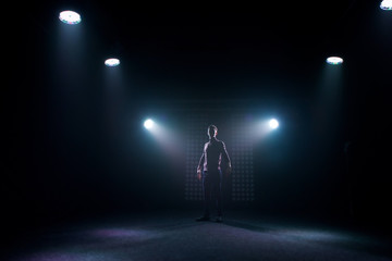 Silhouette of a dancer.