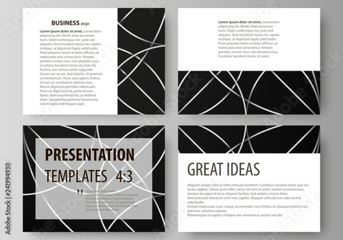 a59481b1bf6ef Set of business templates for presentation slides. Easy editable vector  layouts in flat design.