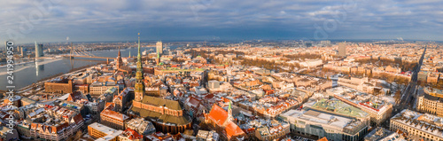 Riga aerial winter day view during Christmas time. - 241994950