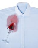 Spilled wine on a shirt - 241995138