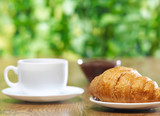 Croissant and coffee - 241995364