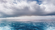 Quadro beautiful scenic seascape with rain clouds or raining strom
