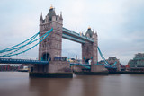 Tower Bridge over Thames River in London.