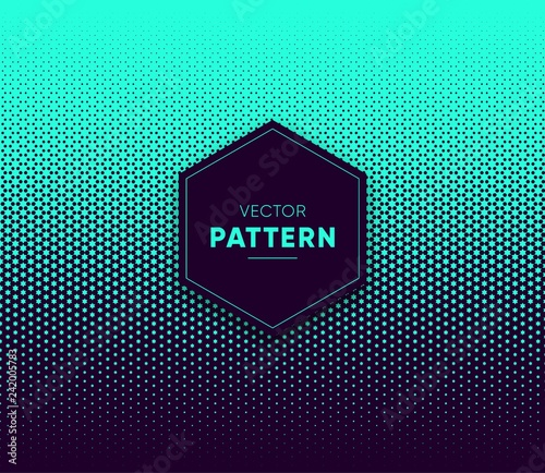 Blue vector halftone for backgrounds and designs