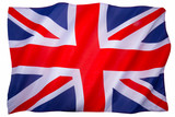 Flag of the United Kingdom of Great Britain - White background poster
