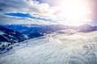 Leinwanddruck Bild - Wintersport in Königsleiten, Österreich
