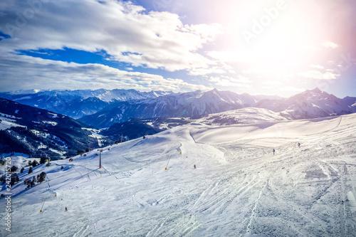 Leinwanddruck Bild Wintersport in Königsleiten, Österreich