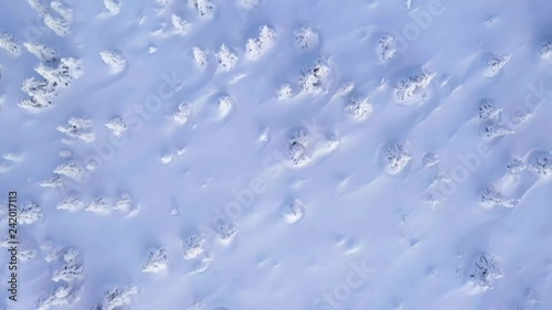 Nature and outdoor cinematic drone footage of winter landscape