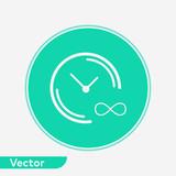 Infinite time vector icon sign symbol - 242032976