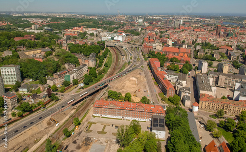 Gdansk Centrum aerial view - 242040772