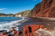 Quadro RED BEACH, SANTORINI