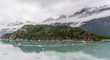 Mountains & Ocean with cloudy sky at Glacier Bay Alaska