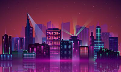 Vector City neon
