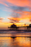 Huntington Beach pier at sunset - 242058132