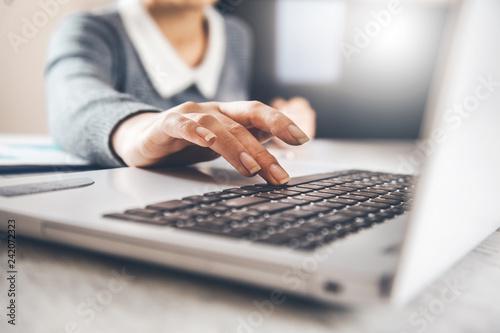 woman hand computer keyboard