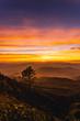 twilight sunset Evening light on the mountain