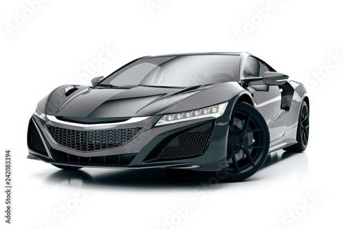 3d render of beautiful super sport car