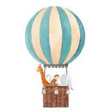 Watercolor air baloon illustration - 242084181