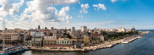 Leinwandbild Motiv Panorama Blick auf Altstadt von Havanna Kuba