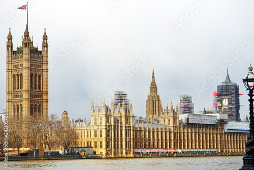 the British Parliament building in London