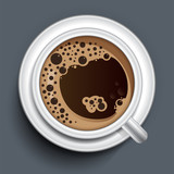 Coffee cup top view - 242107148
