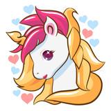 Baby unicorn clipart vector