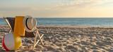 Liegestuhl am Strand - Sonnenaufgang
