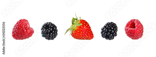 Collection of mixed berries. - 242123556