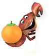 Fun crab - 3D Illustration - 242124362