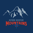 Vector mountain and outdoor adventures image - 242126749