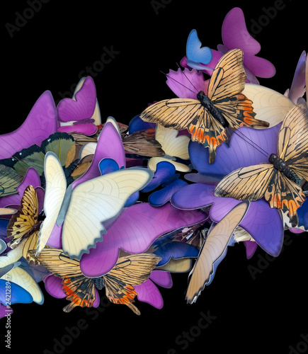 colorful butterfly ornament - 242128947