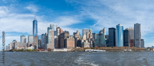 mata magnetyczna Panoramic view of Manhattan skyline, USA,
