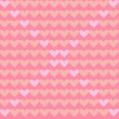 vector illustration of a seamless pattern with pink hearts on a pink background for decoration - 242132560