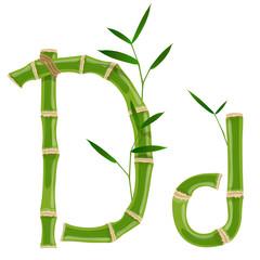 Bamboo letter D © ayax