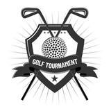Golf elements design on white background