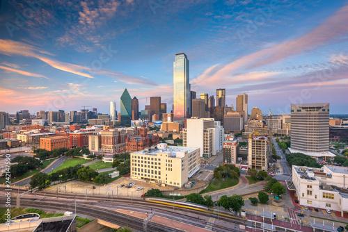 Foto Murales Dallas, Texas, USA skyline over Dealey Plaza