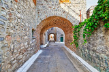 Traditional houses in Vessa of Chios, Greece - 242147780