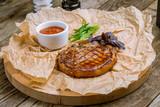 Fried pork loin with sauce - 242155346