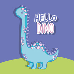 cute brontosaurus dino animal wildlife
