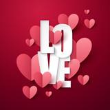 Valentine`s Day background. Vector illustration. - 242158740